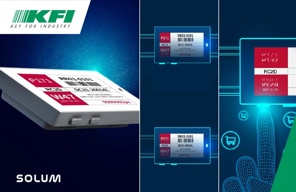 Paperless Factory: KFI e SoluM rivoluzionano l'Intralogistica con le etichette elettroniche ESL